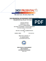 PROJECT ON ICICI PRUDENTIAL LIFE INSURANCE COMPANY LIMITED.