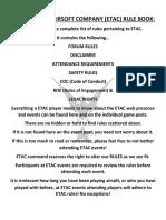 Etac Rule Book 2018