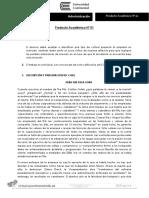 Administración producto académico 1 U continental