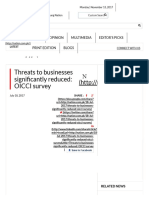Threats to Businesses Significantly Reduced_ OICCI Survey