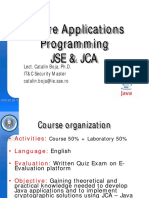 Secure Applications Programming Java