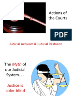 PPT Judicial Activism and Restraint