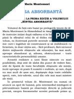 Maria Montessori - Mintea Absorbanta (A5)