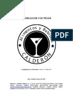 Familias de Cocteles. Comp. Carlos Calderón