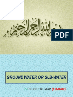 Ground Water or Sub-water