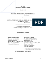 Kountze ISD TX Supreme Court Brief