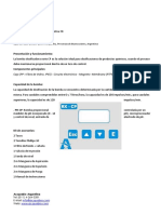 Manual Bomba Dosificadora de Control de PH