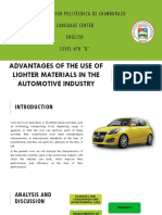 Advantages of the Use of Lighter Materials in the Automotive Industry