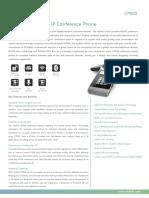 Yealink CP920 HD IP Conference Phone Datasheet