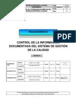 P-SGC-01 v.01 Control de La Información Documentada Del SGC