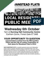 Public Meeting 6 October 2010