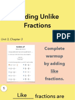 3.3a Adding Unlike Fractions