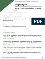 Lei Complementar 93_03 _ Lei Complementar Nº 93 de 23 de Junho de 2003, Camara Municipal de Cuiaba