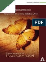 programas-2018 Escuela Sabática