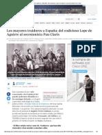 Los Mayores Traidores a España_ Del Codicioso Lope de Aguirre Al Secesionista Pau Claris