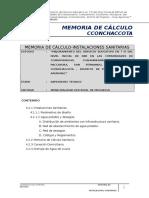 Memoria de Calculo Instalaciones Sanitarias