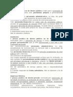 Autarquias, Fundações e Empresas Públicas