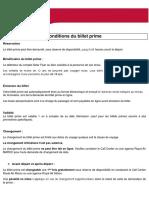 Conditions Du Billet Prime FR