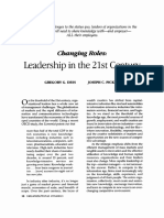 3. Changing Roles - Leadership in the 21 Century (Dess, 2001)