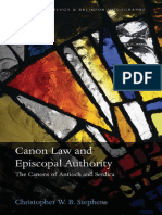 (Oxford Theology and Religion Monographs) Stephens, Christopher William Barrow-Canon Law and Episcopal Authority _ the Canons of Antioch and Serdica-Oxford University Press (2015)