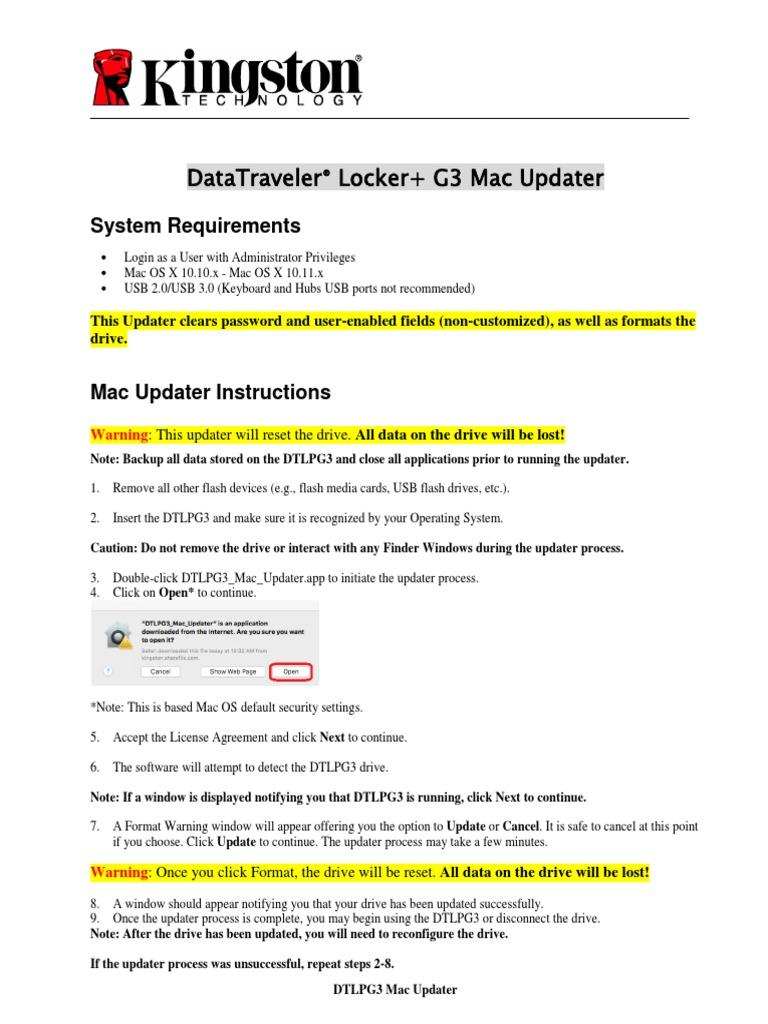 DTLPG3 Mac Updater Instructions