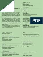 ZHDK Tagung KunstDesForschens Flyer