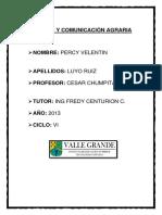 Extension y Comunicación Agraria