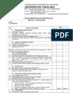 Cek List Skills Lab Blok 21 Neonatal Resusitasi