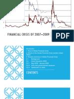 Financial Crisis of 2007–2009