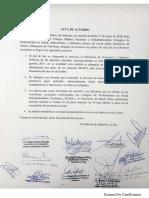 Acuerdo entre el Gobierno y el Colegio Médico de Bolivia