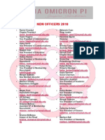 New Officers 2018