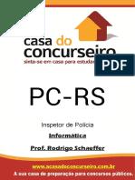 Apostila Pc Rs Edital 2017 Inspetor Escrivao Informatica Rodrigo Schaeffer