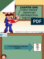 FIRST ORDER O.D.E