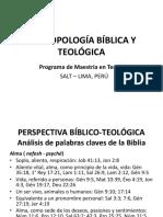 Antropología Bíblica y Teológica
