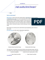 How to Get High Quality Blind Flanges