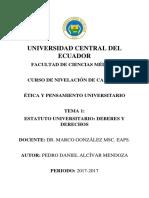 Estatuto Universitario