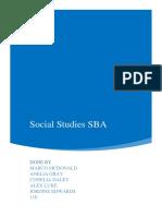 Social Studies SBA-1