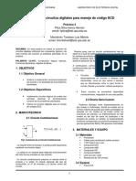 Aplicación de circuitos digitales para manejo de código BCD