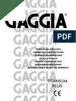 Manual Gaggia Titanium Plus