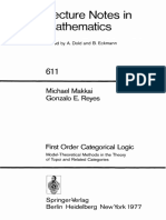 (Lecture Notes in Mathematics _ 611) Michael Makkai, Gonzalo E. Reyes-First Order Categorical Logic_ Model-Theoretical Methods in the Theory of Topoi and Related Categories-Springer-Verlag (1977)