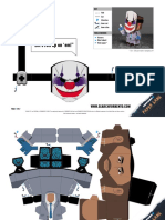 Payday 2 game - Chains paper model