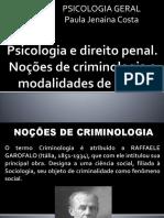 Psicologia e Direito Penal
