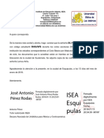 Carta Silvia Judith Firmada y Sellada