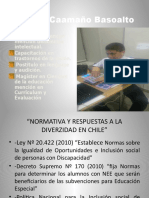 Normativa y Respuestas a La Diversidad en Chile