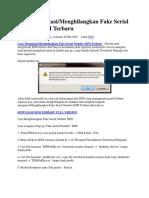 Cara Mengatasi Menghilangkan Fake Serial Number IDM Terbaru .docx