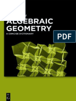 Algebraic Geometry - A Concise Dictionary