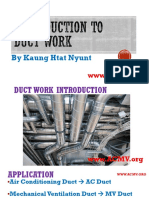 Introduction to Duct work Design