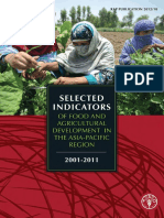 Selected Indicator for Agriculture Development  Asia Pacific 2011