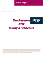 10 Reasons Why Not to Buy a Franchise