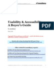 Usability and Accessibility Buyer's Guide 2007